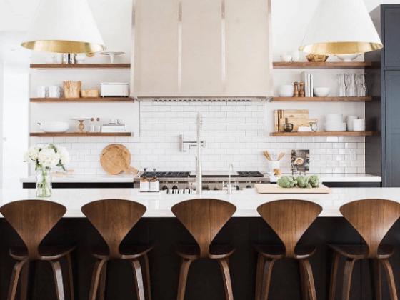 walnut kitchen interior design
