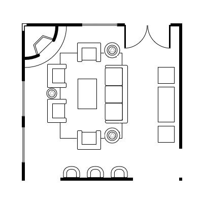 Floor plan idea to promote conversation