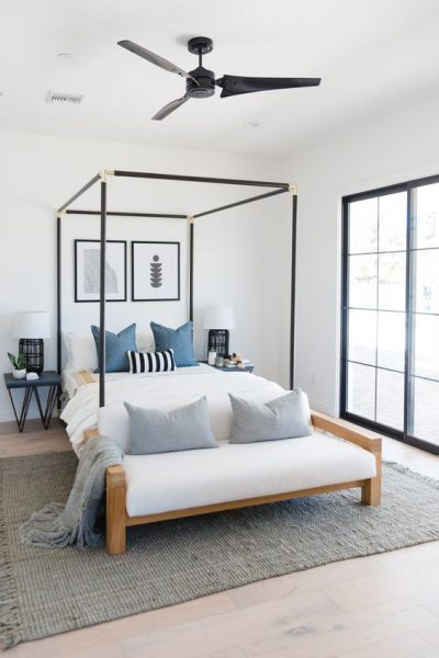 modern canopy bed, canopy bed