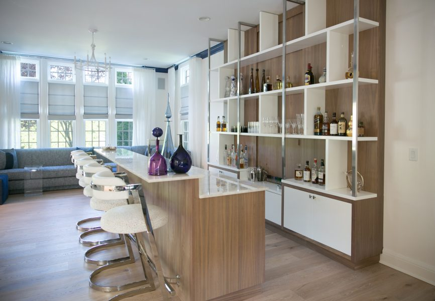 home bar, chic home bar