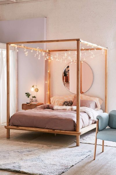 canopy bed, boho canopy bed, urban outfitters canopy bed, eva wooden canopy bed