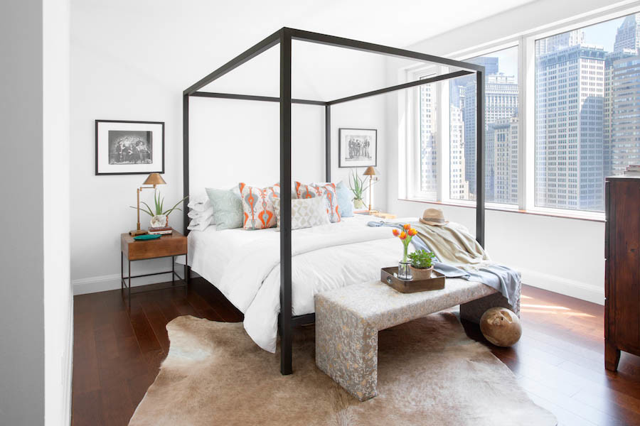 modern canopy bed, contemporary canopy bed