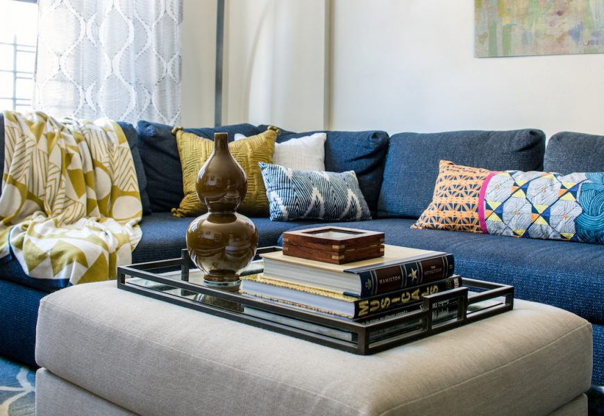 Amazing How To Style A Blue Sofa Roomhints Com Ncnpc Chair Design For Home Ncnpcorg