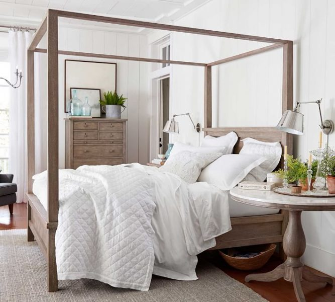 canopy bed, farmhouse canopy bed