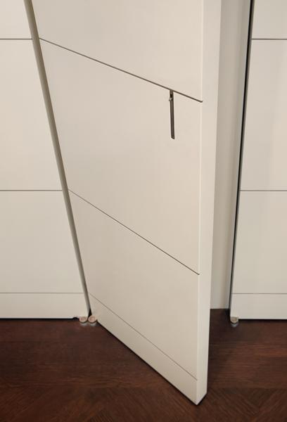 concealed Edge Pull door hardware
