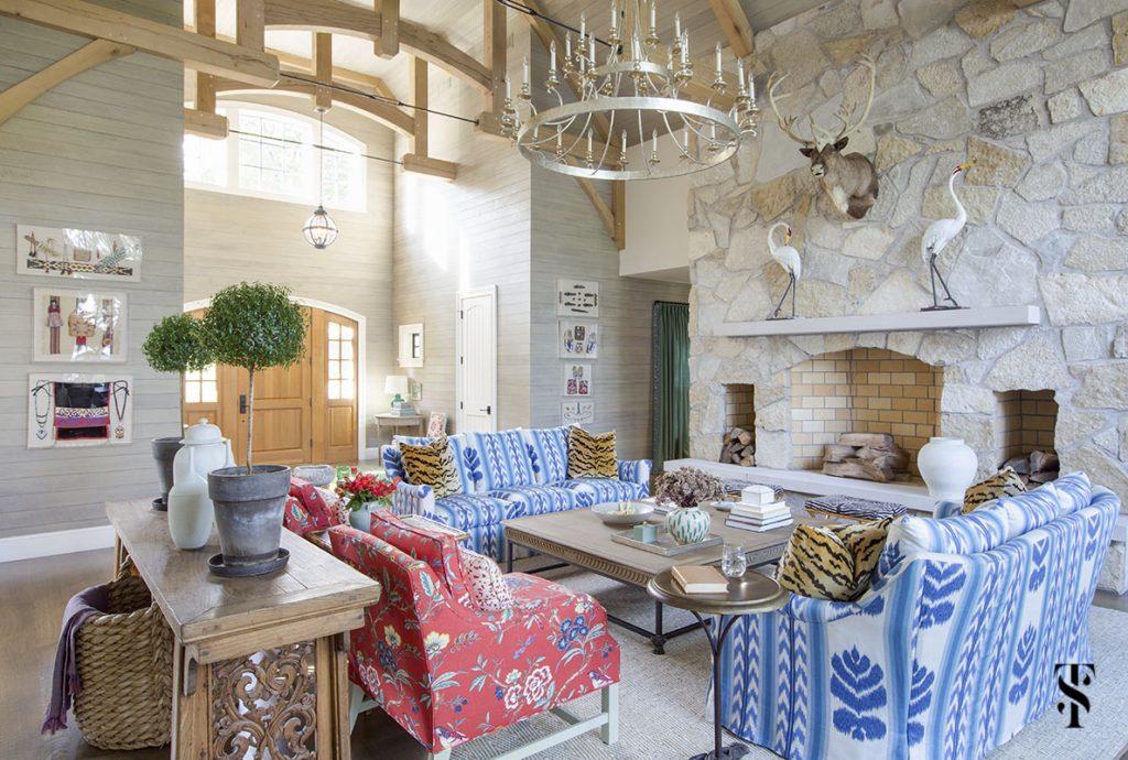 blue sofa