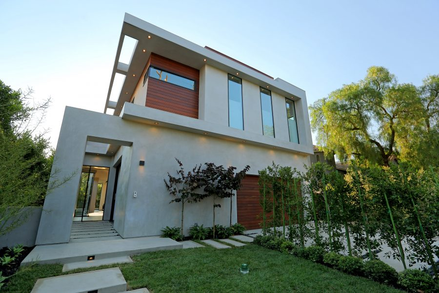 modern exterior, modern home