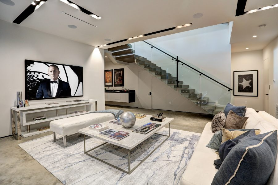 den, basement, family room