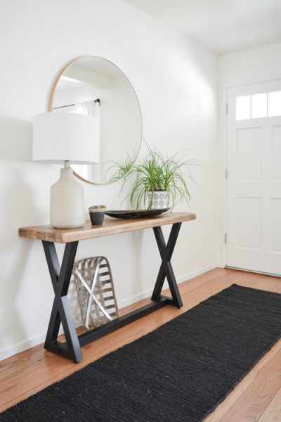 foyer, console table, entryway runner