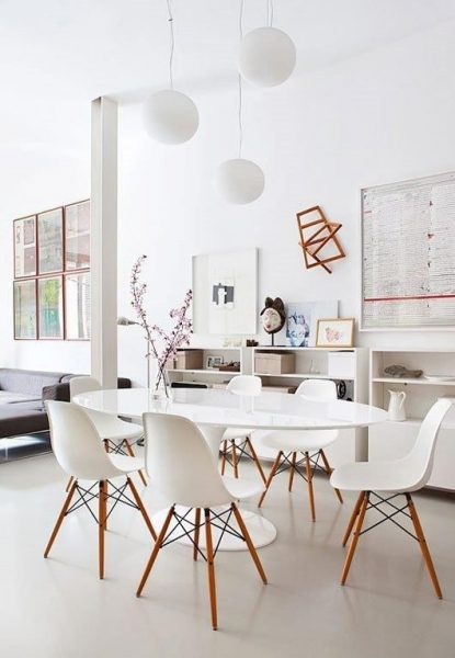 eames chair, white eames chair, tulip table