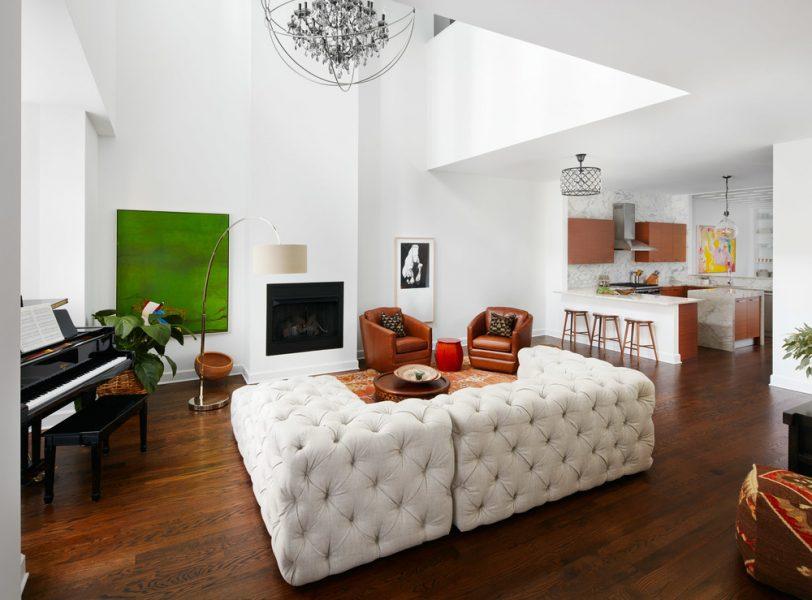 white leather sofa, white leather tufted sofa, tufted sofa