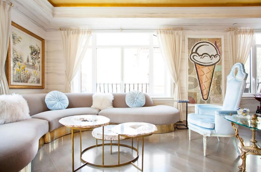 curved sofa, velvet sofa, pink velvet sofa