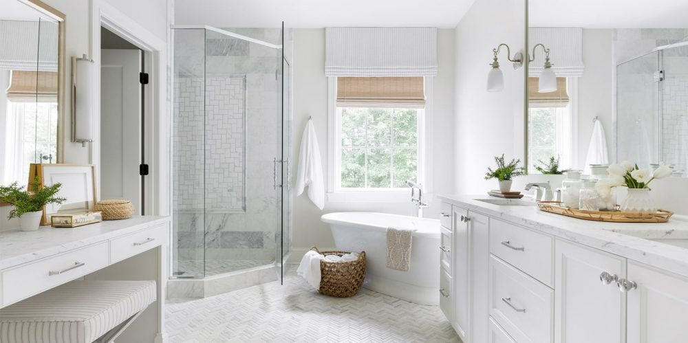 walk in shower, bathroom remodel, white bathroom, modern bathroom