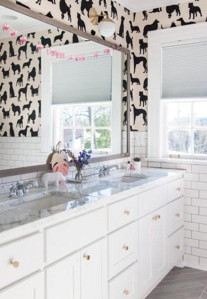 dogs wallpaper, dog wallpaper, animal wallpaper, bathroom wallpaper
