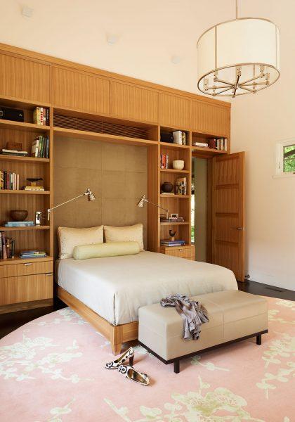 master bedroom, built in bookshelf ideas, shelf styling
