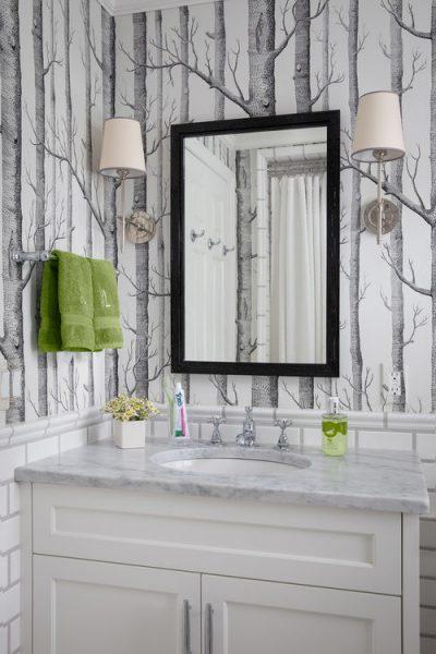 woods wallpaper, forest wallpaper, trees wallpaper, tree branches wallpaper, bathroom wallpaper