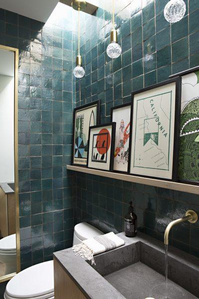 bathroom tile, green bathroom tile, bathroom backsplash