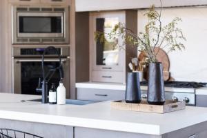 black accent kitchen design