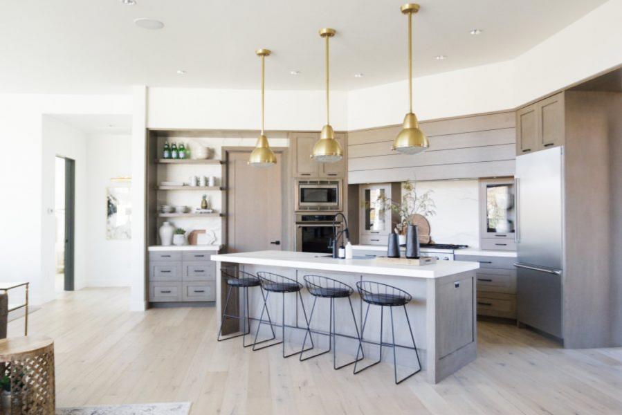 diagonal kitchen design