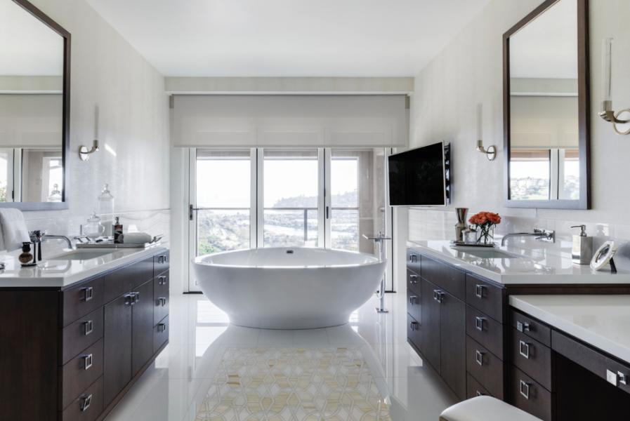 freestanding tub, bathroom vanity, double vanity, bathroom remodel
