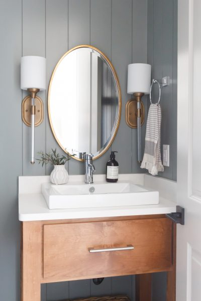 modern farmhouse bathroom, vessel sink, bathroom vanity ideas, bathroom remodel
