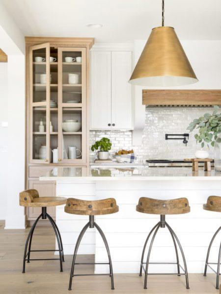 single large bronze light pendant kitchen