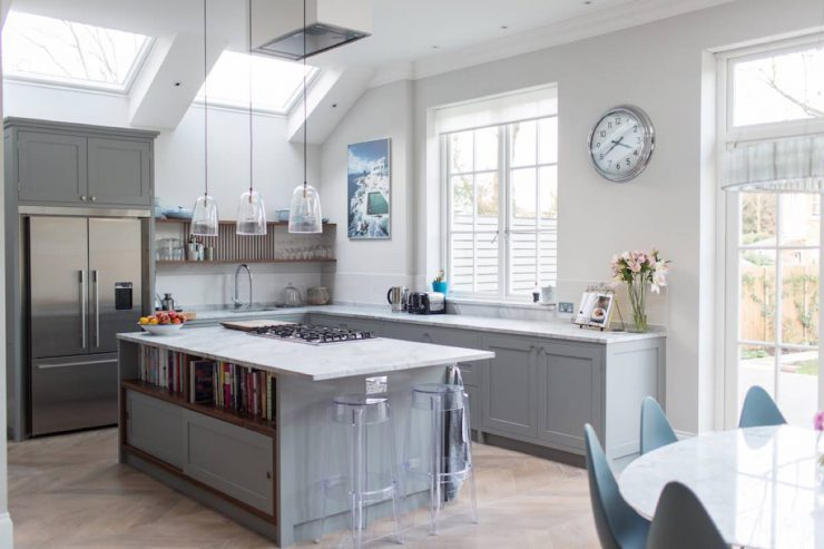farrow and ball dimpse kitchen design